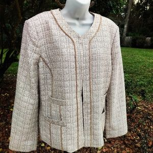 Beautiful Tweed Blazer by Chico's 2 Large Like New